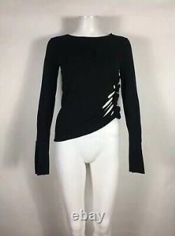 Rare Vtg Jean Paul Gaultier Soleil Black Side Cut Out Top L