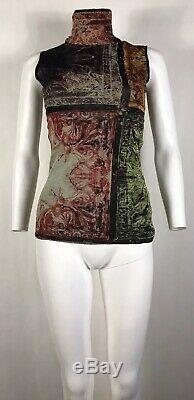 Rare Vtg Jean Paul Gaultier Soleil Multicolor Mesh Top M