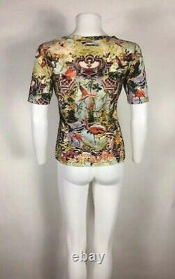 Rare Vtg Jean Paul Gaultier Tropical Flamingo Print Top S