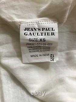Rare Vtg Jean Paul Gaultier White Peasant Top XS