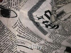 Rare Vtg John Galliano Newspaper Print Top L