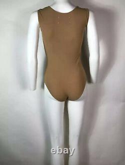 Rare Vtg Maison Martin Margiela Beige Black Bra Bodysuit Top SS2007 S