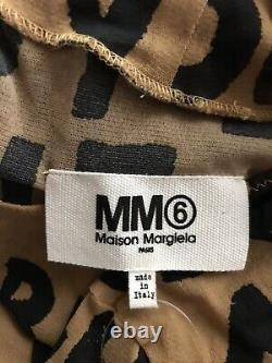 Rare Vtg Maison Martin Margiela MM6 Nude Text Print Bodysuit Top XS