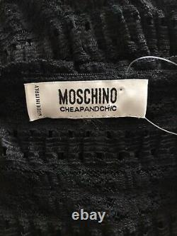 Rare Vtg Moschino Cheap & Chic Black Lace Top S