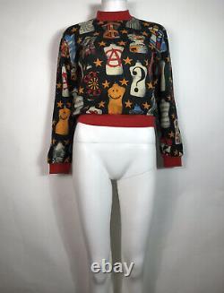 Rare Vtg Moschino Peace Dress Form Sweater Top S