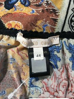 Rare Vtg Roberto Cavalli 90s Floral Stretch Top M