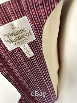 Rare Vtg VIVIENNE WESTWOOD COUTURE Gold Label Thin Stripe Corset Top S