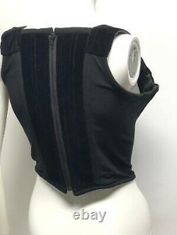 Rare Vtg Vivienne Westwood 90s Black Velvet Corset Top M
