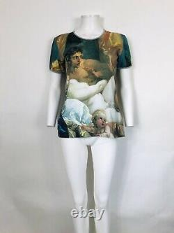 Rare Vtg Vivienne Westwood Anglomania Green Painting Print Top L