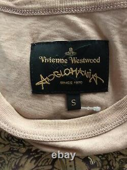 Rare Vtg Vivienne Westwood Anglomania Peach Kiss Print Top S