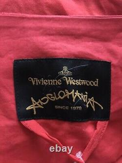 Rare Vtg Vivienne Westwood Anglomania Red Asymmetrical Hood Top M