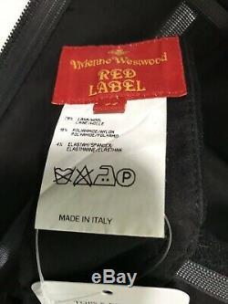 Rare Vtg Vivienne Westwood Black Corset Top L