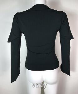 Rare Vtg Vivienne Westwood Black Drape Top S