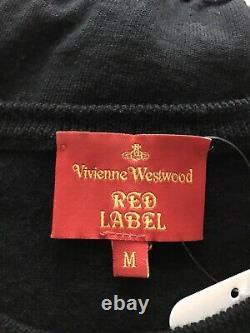 Rare Vtg Vivienne Westwood Black Knit Orb Logo Top M
