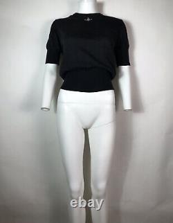 Rare Vtg Vivienne Westwood Black Orb Logo Knit Top