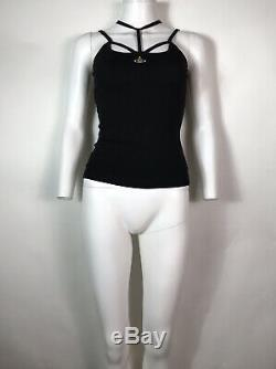 Rare Vtg Vivienne Westwood Black Orb Logo Top XS