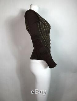 Rare Vtg Vivienne Westwood Brown Corset Style Top XS