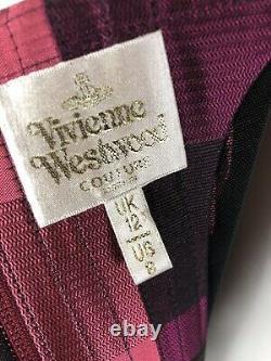 Rare Vtg Vivienne Westwood Couture Gold Label Burgundy Stripe Corset Top S