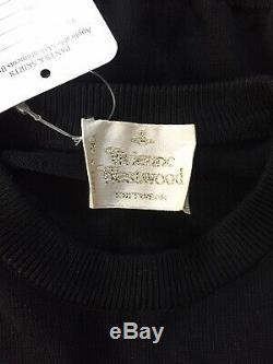Rare Vtg Vivienne Westwood Gold Label Black Orb Logo Knit Top S