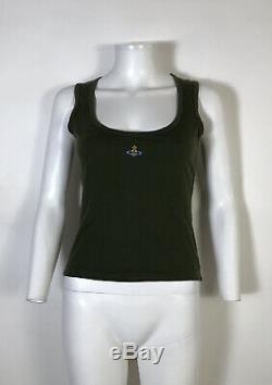 Rare Vtg Vivienne Westwood Green Orb Logo Tank Top S