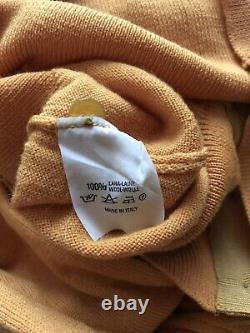 Rare Vtg Vivienne Westwood Orange Knit Logo Top S