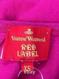 Rare Vtg Vivienne Westwood Pink Logo Orb Tank Top XS