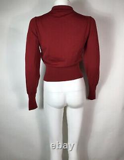 Rare Vtg Vivienne Westwood Red Orb Logo Knit Top S
