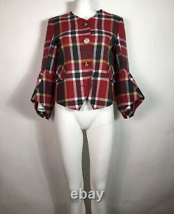 Rare Vtg Vivienne Westwood Red Tartan Jacket S