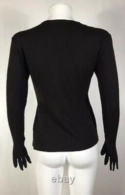 Rare Vtg Yohji Yamamoto Brown Wool Glove Top S