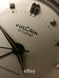 Rare vintage Vulcain Cricket 60 Unpolished and super Patina condition
