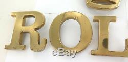 Rolex Super Rare / Vintage / Huge Retailers 6 Piece Brass Wall Sign