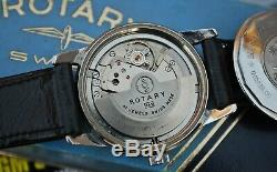 Rotary Super 41 Compressor Gents Vintage Automatic Watch In Box c1960's-Rare