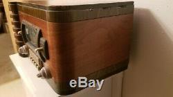 SUPER RARE 1940's VINTAGE ZENITH TUBE AM/SHORTWAVE RADIO MODEL # 7S432