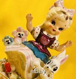 SUPER RARE! Cute 1950s Alice in Wonderland VTG Figurine TMJ Napco Nursery