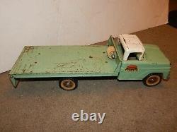 SUPER RARE ORIGINAL! Vintage GREEN 1964 Tonka Toy Ramp Hoist Tow wrecker Truck