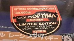 SUPER RARE! VINTAGE KYOSHO 1/10 Scale Gold OPTIMA LIMITED VERSION NIB