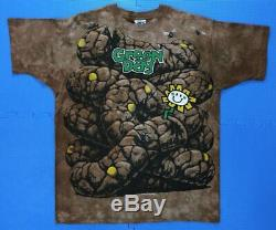 SUPER RARE Vintage Green Day Dookie SAMPLE shirt Liquid Blue 90s VTG XL all over