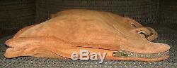 SUPER RARE Vintage L. L. Bean Medium Size suede Tote Bag leather BROWNISH ORANGE