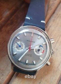 Sandoz Chronograph Diver Mechanical Multicolor Dial Men's watch, Super Rare