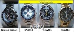 Seiko SNA411/SNA413/SNA719/SNA721 (7T62-0EB0) Super-Rare Stealth FlightMaster