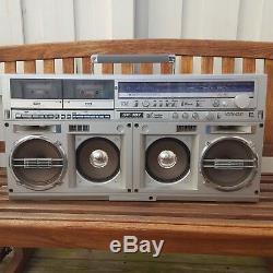 Sharp GF-767 Z BOOMBOX Double Cassette Player Super Rare Model Vintage 1980s