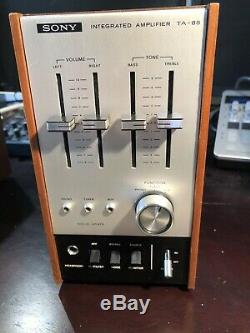 Sony vintage stereo system TA-88, ST-88 and super rare SQA-100 Decoder Amplifier