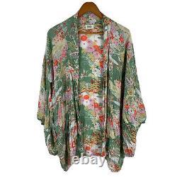 Spell Designs Vintage Rare Floral Multicoloured Kimono Top Duster One Size