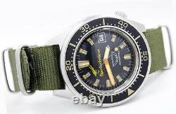 Squale Master Super RARE Spirotechnique 100Atmos Professional Diver Vintage Wris