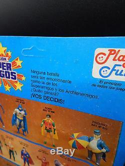 Super Amigos BATMAN vintage MOC action figure 1989 Playful Super Powers RARE toy