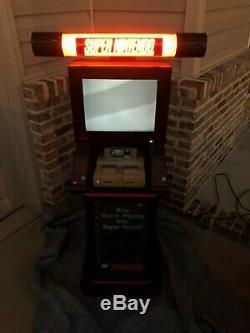 Super Nintendo Kiosk, Store Display, Vintage Nintendo, Snes, Rare