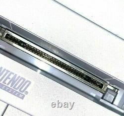 Super Nintendo SNES System Console 2 Controllers Lot Bundle Vintage Rare Games