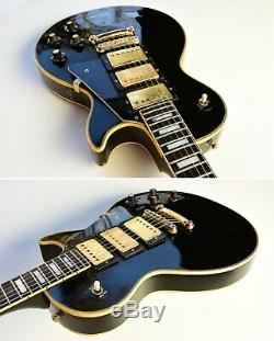 Super RARE 1970 Gibson Les Paul Custom 3-Pickup BLACK BEAUTY ORIGINAL Vintage
