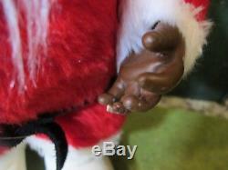 Super RARE Black/ African American Rushton 1950 Vintage Coca-Cola Santa Claus