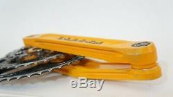 Super RARE Race Face Forged, Vintage Triple MTB Crankset, Mango Orange, 175mm